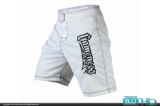Gameness White Fight Shorts